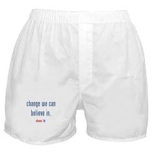 change we can believe in Boxer Shorts