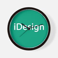 iDesign, Teal Interior Design Wall Clock