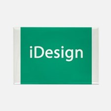 IDesign Teal Interior Design Rectangle Magnet