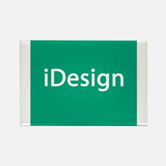 iDesign, Teal Interior Design Rectangle Magnet