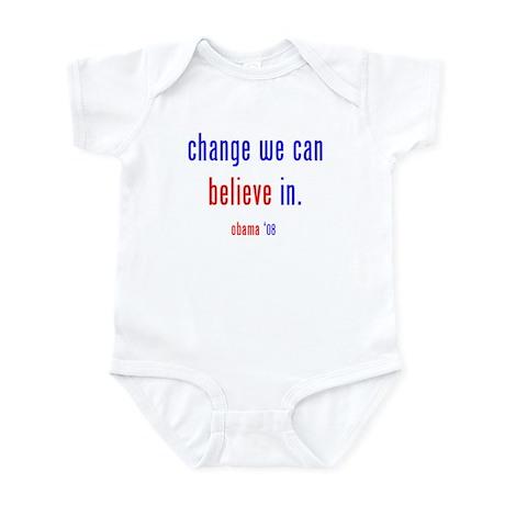 change we can believe in Infant Bodysuit