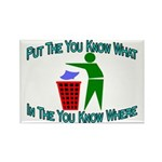 You Know Where Rectangle Magnet (10 pack)
