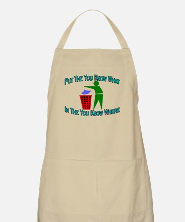 You Know Where BBQ Apron