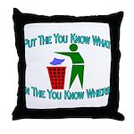You Know Where Throw Pillow