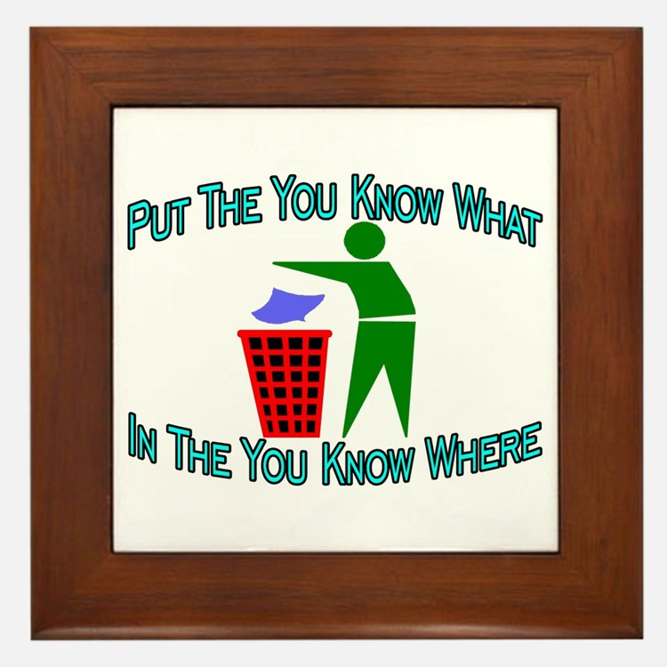 You Know Where Framed Tile