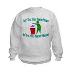 You Know Where Kids Sweatshirt