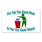 You Know Where Rectangle Sticker 50 pk)