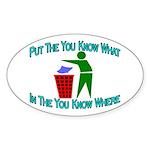 You Know Where Oval Sticker (10 pk)