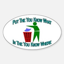 You Know Where Oval Sticker (10 pk)