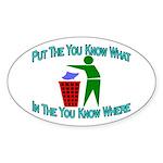 You Know Where Oval Sticker