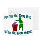 You Know Where Greeting Cards (Pk of 10)