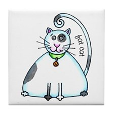 Fat Cat Tile Coaster