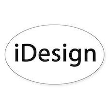 iDesign Interior Design Oval Decal