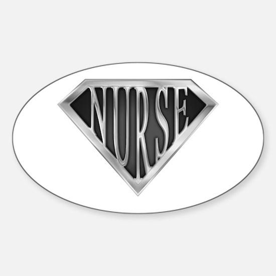 SuperNurse(metal) Oval Decal