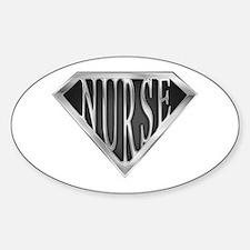 SuperNurse(metal) Oval Stickers