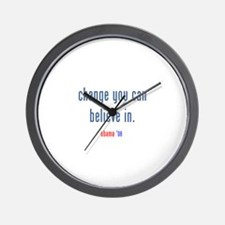 change you can believe in Wall Clock