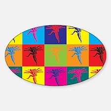 Aerobics Pop Art Oval Decal