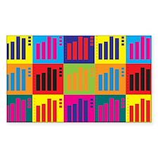 Actuarials Pop Art Rectangle Decal