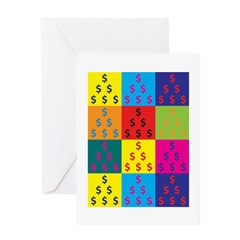 Accounting Pop Art Greeting Card