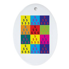 Accounting Pop Art Oval Ornament