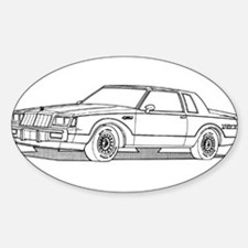 Grand National Oval Decal