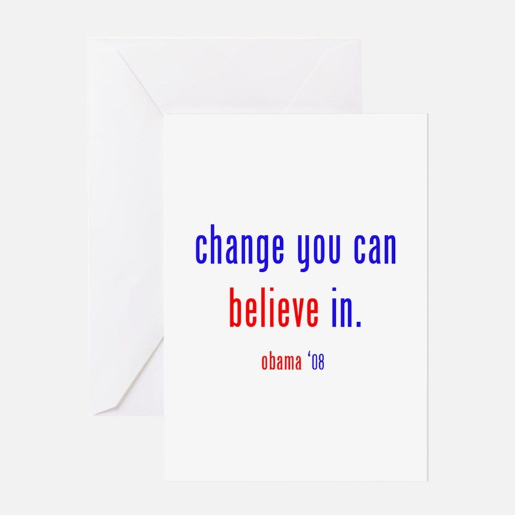 change you can believe in Greeting Card