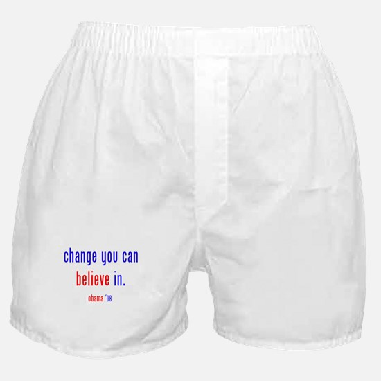 change you can believe in Boxer Shorts
