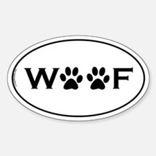 Woof Paws Sticker (Oval)