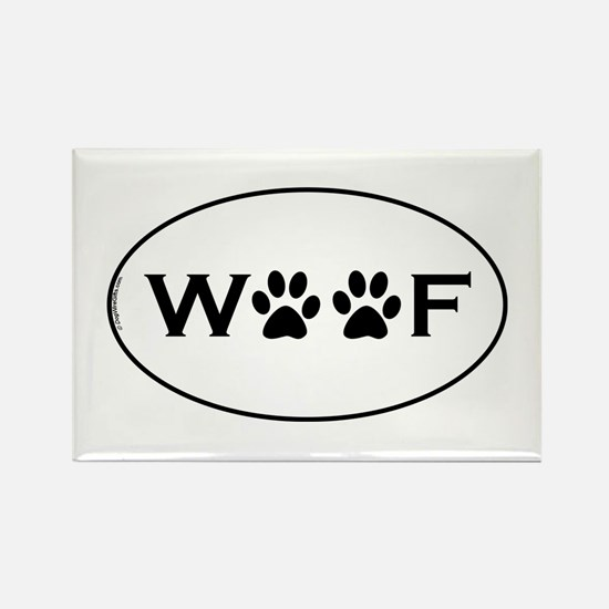 Woof Paws Rectangle Magnet