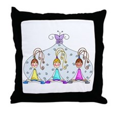 Yoga Trio Throw Pillow