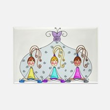Yoga Trio Rectangle Magnet