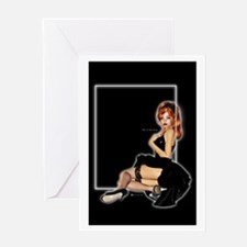 It's in his kiss black Greeting Card