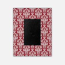 Crimson Red Damask Flourish Pattern Picture Frame