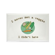 I Hate Veggies Rectangle Magnet