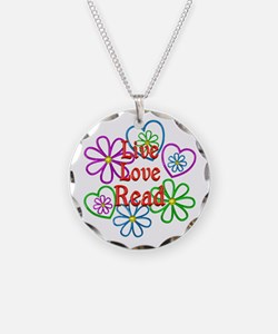 Live Love Read Necklace Circle Charm
