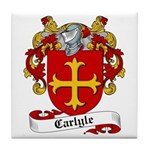 Carlyle Family Crest Tile Coaster