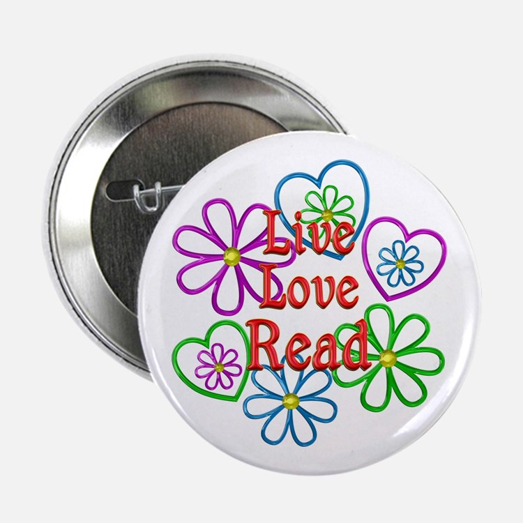 """Live Love Read 2.25"""" Button (10 pack)"""