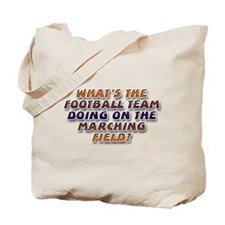... marching field Tote Bag