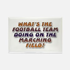 ... marching field Rectangle Magnet