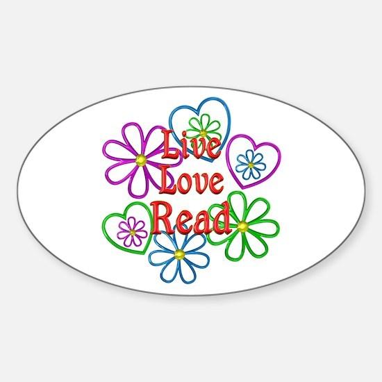 Live Love Read Sticker (Oval)