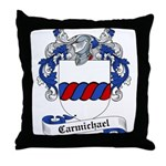 Carmichael Family Crest Throw Pillow