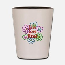 Live Love Read Shot Glass