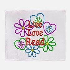 Live Love Read Throw Blanket