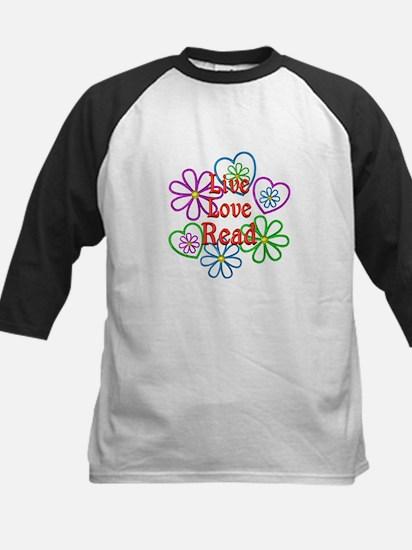Live Love Read Kids Baseball Jersey
