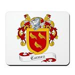 Carnes Family Crest Mousepad