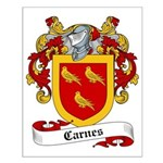 Carnes Family Crest Small Poster