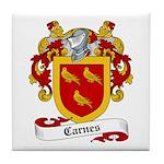 Carnes Family Crest Tile Coaster