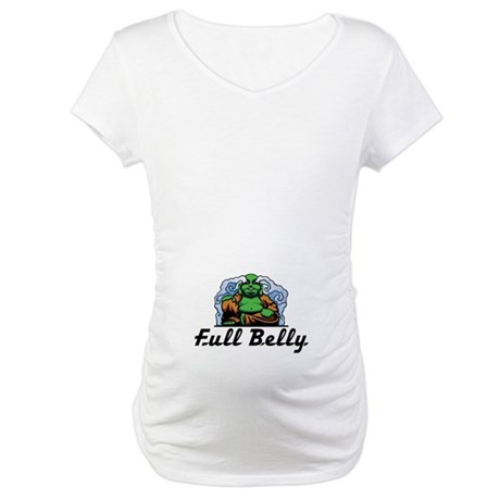 Full Belly Ovalf Maternity T-Shirt
