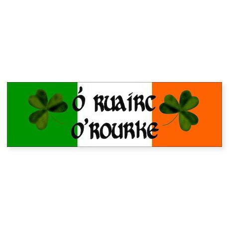 O'Rourke in Irish & English Bumper Sticker