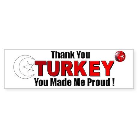 Thank you Turkey Bumper Sticker